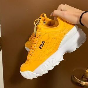Yellow FILA Disruptor 2 sneakers